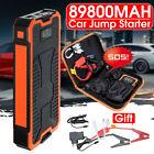 89800mAh 12V LCD Car Jump Starter Dual USB Emergency Battery Booster Power