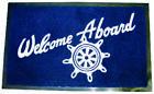 Seachoice 78180 Welcome Aboard Mat 18x27 Navy Blue LC