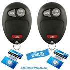 Lot 2 Keyless Entry Remote Key Fob Transmitter Clicker For 2005-07 Chevrolet GMC