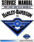 1991 & 1992 HARLEY-DAVIDSON XLH SPORTSTER SERVICE MANUAL -XLH SPORTSTER