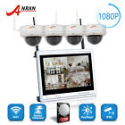 """ANRAN 4CH 1080P Security Camera System 2TB CCTV Outdoor Wireless 12""""LCD WIFI NVR"""
