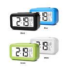 Alarm Clock LED Digital Snooze Auto Backlight Calendar Thermometer LCD Screen