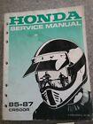 HONDA CR500R SERVICE MANUAL 1985-1987