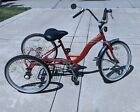 Vintage Torker TriStar Bicycle Orange Adult Trike Tricycle Three Wheel Bike
