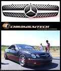 BLACK/CHROME GRILLE for 1999-2006 MERCEDES CL Class W215 CL65 CL500 CL600