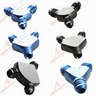 3AN 4AN 6AN 8AN 10AN 12AN 16AN Aluminium Male Flare Y Block Adapter Fitting