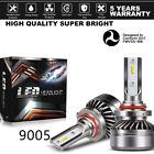 2PCS 9005 HB3 H10 60W 12000LM LED Headlight Kit High Beam 6000K White Power X