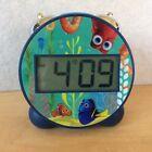 "Disney Finding Dory LCD Digital Alarm Clock Nemo Fish Snooze Cute Blue Light  4"""