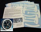 SS Wheel Paint Mask Stencil Kit 69-70 Chevelle, Camaro
