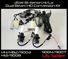 H13/9008 6000K 8000K 10000K Bi-Xenon Hi/Lo Beam Light Bulbs and Relay Harness