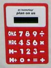 "Red 5"" Plan on Us pc/nametag Advertizement Resin Portable Calculator"