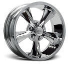 Rocket Racing Booster Wheels Chrome Staggered 17x7 17x8 - Set of 4