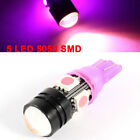 T10 Pink 5 LEDs 5050 SMD Auto Car Dashboard Wedge Light Bulb internal
