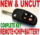 NEW UNCUT FLIP TRANSPONDER CHIP KEY REMOTE FOR JAG X-TYPE KEYLESS ENTRY FOB