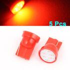 5 Pcs Red T10 LED 6 Clip COB Bulb Light Parking Backup Brake Tail Lamp