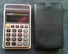Vintage Casio Memory-81 Electronic Calculator is H-815 w/ Case Japan 8-Digits
