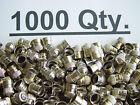 1000 BRASS Metal Chrome Plated Tire Wheel Air Valve Caps for Auto Car Bike Truck