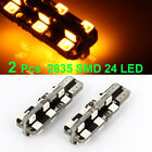 2 Pcs T10 Yellow 2835 SMD 24 LED Auto Car Signal Light Lamp 12V Internal