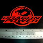 """DRAGON Power Non Reflective Sticker Decals Orange 3x5.25"""""""