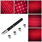 Red Powerful Laser Pointer Pen 5in1 5mw 650nm Laser Flashlight+5 Star Caps