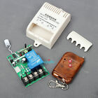 DC 12V 1 CH Wireless RF Remote Control Switch Transmitter Receiver 30A Relay