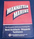 Manhattan Marine vintage 1955 catalog naval yachts sailing ships
