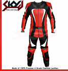 Motorbike Racing Leather Short body two piece suit black-Red Jacket & Trouser