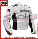 Motorcycle biker Suzu Gsxr Racing White leather Jacket.