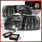 Fits 8K Slim Xenon HID Kit+97-03 F150 Smoke LED Headlights+Corner Lights