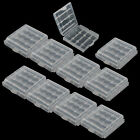 10 x Hard Plastic Case Holder Storage Box Cover for Rechargeable AA AAA Battery