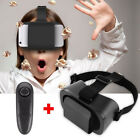 3D Glasses VR Box Headset Google Cardboard Virtual Reality + Bluetooth Control