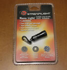 Streamlight Black Nano Light Flashlight Keychain LED-DEL Super Bright