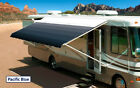 """18' Pacific Blue w/Wht W/G, RV Patio Awning Repl. fabric canopy (Fabric:17'2"""")"""