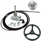 12 FT Planetary Gear Outboard Steering Helm With Boat Steering Cable Wheel