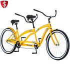 """Tandem Bicycle Bike Dual Outdoor Comfort Cruiser Road Beach Speed Two Person 26"""""""