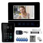"""US 7"""" Video Door Phone DoorBell Intercom System with 1 Monitors + Magnetic Lock"""