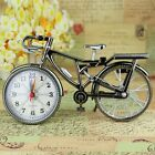 Decoration Home Stand Clock Desk Glamorous Alarm Clock Bicycle Gift Quartz