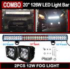 "20"" 126W LED Light Bar Polaris XP1000 XP900 800 Ranger RZR RZR4 Can Am Maverick"