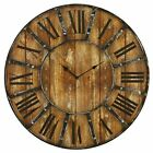 """Vintage Clocks for Walls Oversized Rustic Antique Clock Large 24"""" Distressed New"""