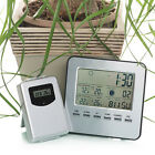Wireless LCD Indoor/Outdoor Thermometer Hygrometer Temperature Alarm Clock