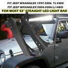 "Mounting Brackets Fit for Jeep Wrangler TJ 97-06 52"" LED Light Bar LJ 2004-2006"