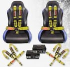 """STV Motorsports Safety Seat Belt Harness V-Type Latch and Link 5 Point 3"""" YELLOW"""