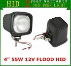 """2X 4"""" 55W 12V Flood Xenon HID Work Light for SUV Truck Tractor Boat Jeep Square"""