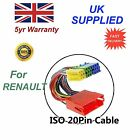 For Renault Mini ISO Adapter Audio cable Distributor Plug 20 Pin Audio cable