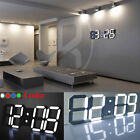 3D LED Digital Table Desk Night Wall Clock Alarm Watch 24 or 12 Hour Display HOT