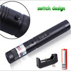 Adjustable Military 532nm 10Mile Green Laser Pointer Pen with battery USA Stock