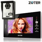 """ZOTER 7"""" Black Monitor Wired Video Doorbell Phone Intercom Home Entry System"""