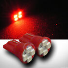 2pc Red T10 Wedge 4x 3528 SMD LED Parking/Turn Signal/Tail Light Lamp Bulb 12V