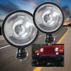 New Round Clear Fog Light for Jeep Wrangler CJ YJ TJ JK Pair Left+Right Pair