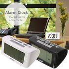 Electronic Bedside LED Digital Snooze Alarm Clock Thermometer Battery Powered
